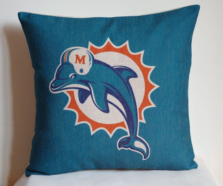 NFL Miami Dolphins pillow, Miami Dolphins decor pillow cover,Miami Dolphins gift by DecorPillowStore on Etsy https://www.etsy.com/listing/207097000/nfl-miami-dolphins-pillow-miami-dolphins