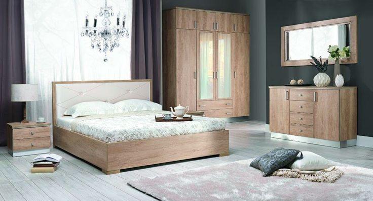 Sypialnia z kolekcji Nebrasca od New Elegance/ Collection Nebrasca - nice wooden bedroom from New Elegance