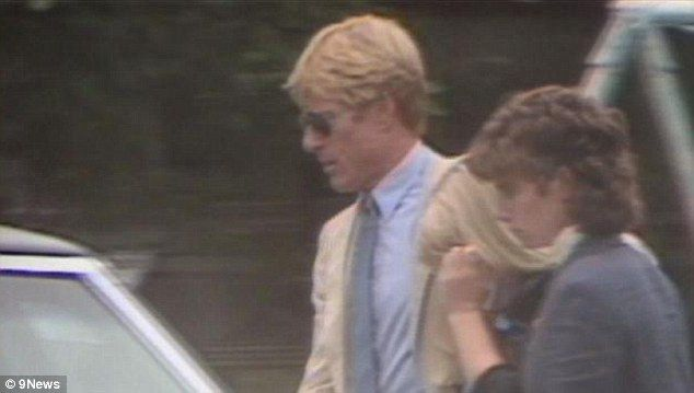 Robert Redford with His Family | True friend: Robert Redford, pictured comforting his weeping daughter ...
