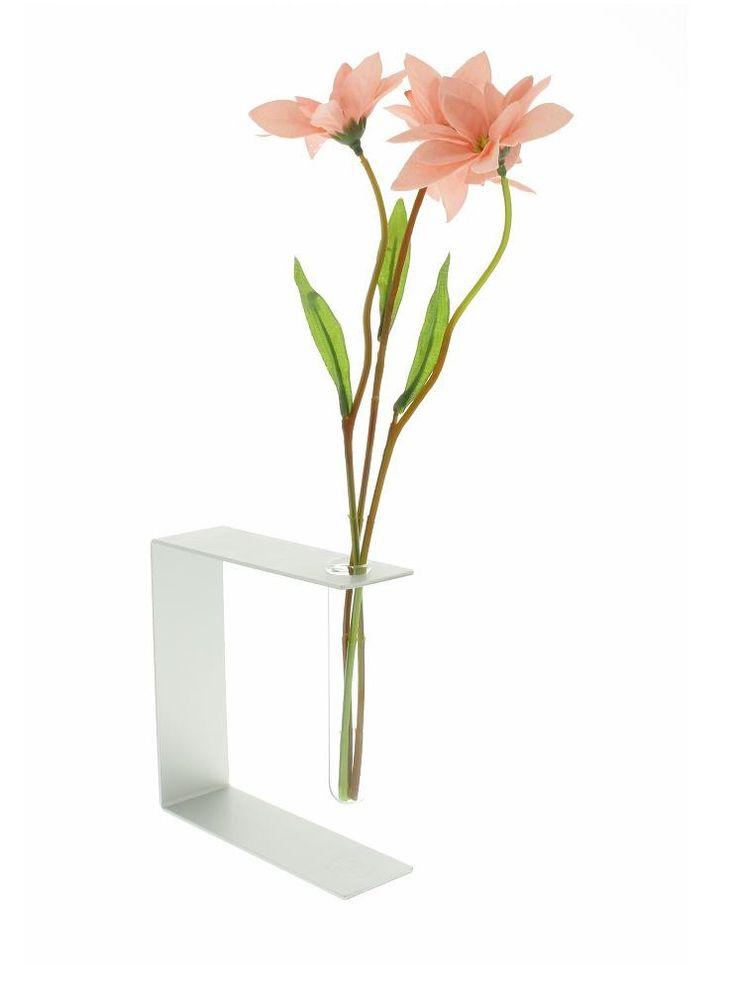 vase soliflore verre et alu minium soliflore. Black Bedroom Furniture Sets. Home Design Ideas