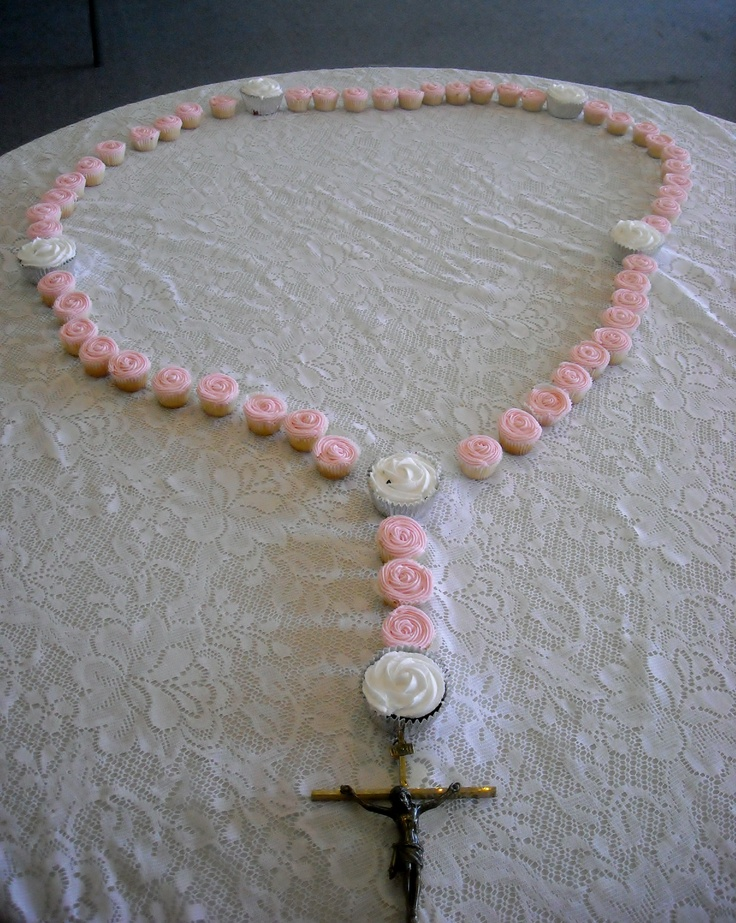 Cake Decoration Rosary Beads : Cupcake Rosary baptism Pinterest Cupcake, The o jays ...