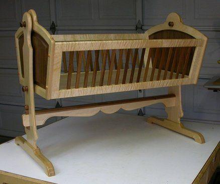 Maple & Walnut Heirloom Baby Cradle Cradles Baby