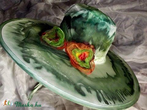 Smaragd kísértés selyemkalap (selyemsziget) - Meska.hu