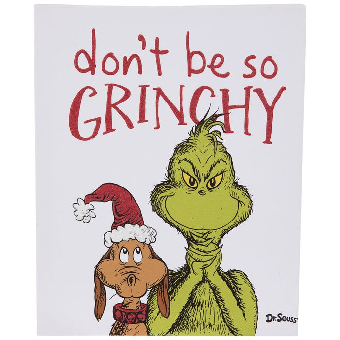 Get Don T Be So Grinchy Canvas Wall Decor Online Or Find Other Wall Decor Products From Hobbylobby Com Canvas Wall Decor Wall Canvas Wall Decor Online