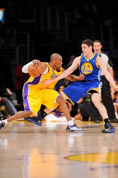 Jab step on Klay Thompson (April 12, 2013 | Golden State Warriors @ Los Angeles Lakers | Staples Center in Los Angeles, California)