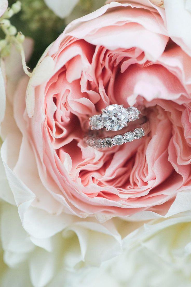 Circle-cut diamond ring: Catering: Forklift Catering - http://www.stylemepretty.com/portfolio/forklift-catering Photography: Jenny Moloney Photography - jennymoloney.com   Read More on SMP: http://www.stylemepretty.com/2017/02/06/anything-but-boring-backyard-wedding-in-massachusetts/