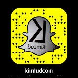 Snapchat username = kimludcom or Scan this snapcode to follow us