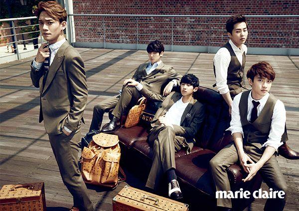 EXO Marie Claire Korea October 2014 Look 6