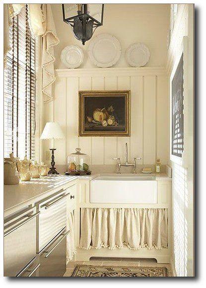 Ball fringe love   Butler's Sinks Designed by Jackye Lanham