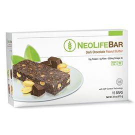 NeoLifeBar, Dark Chocolate & Peanut Butter - 15 x 45g Bars