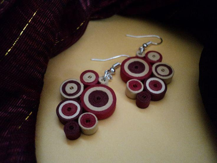 MinkArt quilling fülbevaló / earrings  Quilling jewelry by MinkArt https://www.facebook.com/minkartdesign