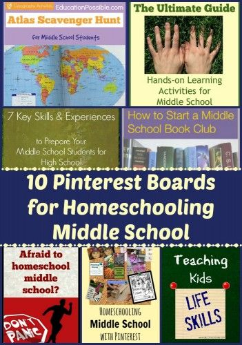 10 Pinterest Boards to Follow for Homeschooling Middle School @Education Possible