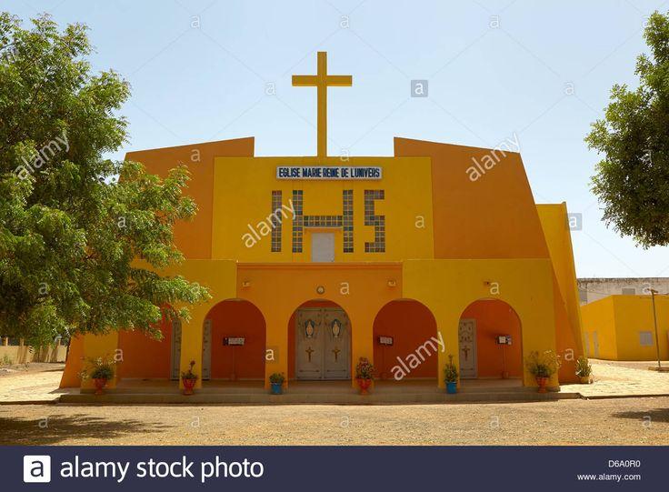 Eglise Marie-Reine de L'Univers, Catholic church, Thies, Senegal, Africa Stock Photo