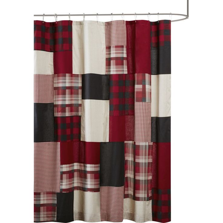 Black And White Checkered Flag Shower Curtain With Proportions 2000 X