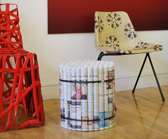 Newspaper Furniture by David Stovell