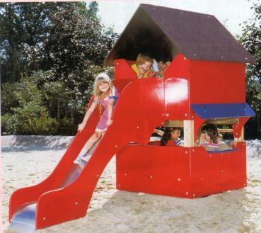 Spielhaus mit Rutsche bei spielendraussen.de unter http://www.spielendraussen.de/index.php?cat=c45_Rutsche---Hangrutsche-Rutsche-rutsche-kaufen.html