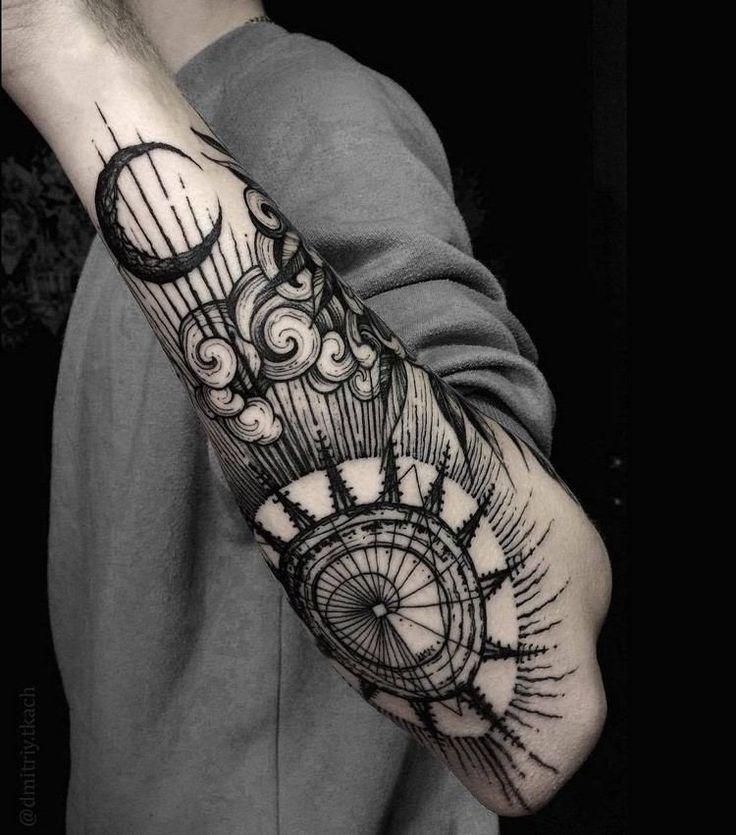 Les 25 meilleures id es de la cat gorie tatouages vikings sur pinterest tatouage de symboles - Tatouage boussole signification ...