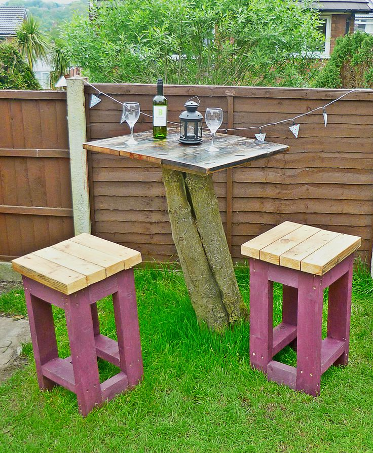 Tree Top Table and Stools by Green Thumb Print | Upcycled Furniture Handmade from Reclaimed Materials