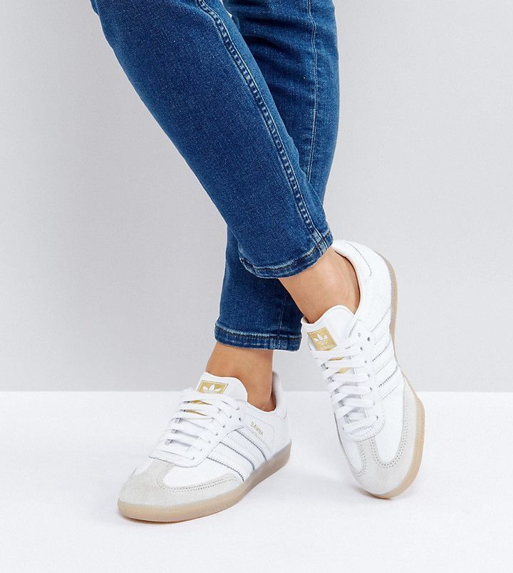 adidas Samba Sneakers In White Texture