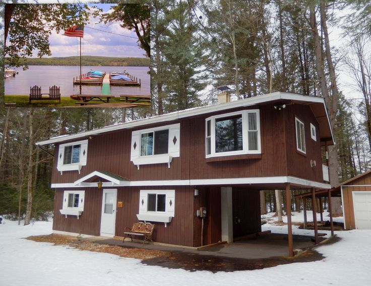 For Sale $159,900 includes Boat slip. Sandy Shore Raised ranch with Boat slip on over an acre and backed by woods is walking distance to Locust Grove amenities Lake Wallenpaupack water play. Recharge yourself with peaceful Scenic views of woods and neighboring pond from open floor plan and balcony. http://www.flexmls.com/share/nzUJ/128TerraceDriveLakevillePA18438