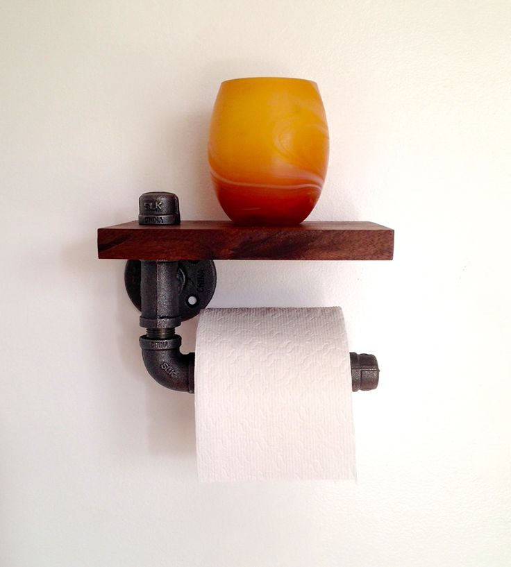 Reclaimed Wood & Pipe Toilet Paper Holder by Reclaimed PA on Scoutmob Shoppe. Industrial + functional.
