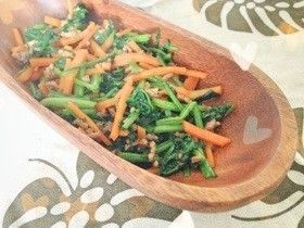 Ground Chicken and Carrots and Spinach 激うま♡挽き肉人参ほうれん草炒め