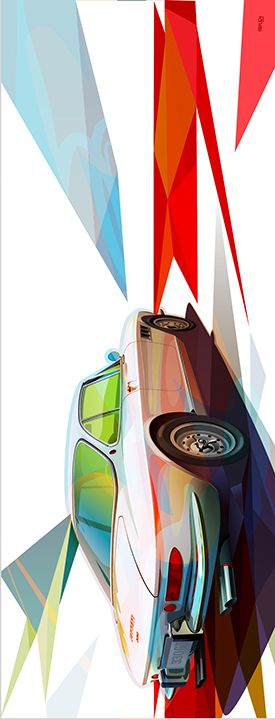 Prints of this Ferrari 330 are available at artisticmotors.com