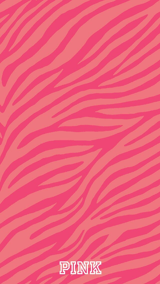 25 best vs pink wallpaper ideas on pinterest victoria - Pink zebra wallpaper for iphone ...