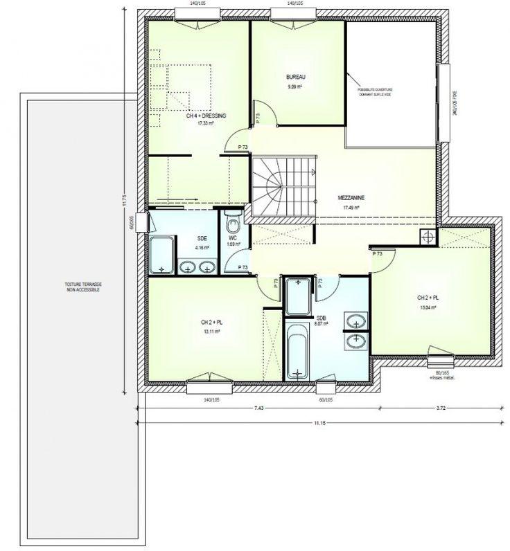 Les 9 meilleures images du tableau plan maison sur for Achat maison neuve 42