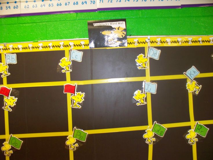 Classroom decor--Cool idea, Ms. Houston with the Peanuts Gang!