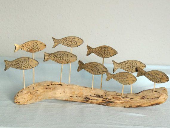 Driftwood Fish Shoal Ornament by SimplyCharmingukshop on Etsy, £35.00