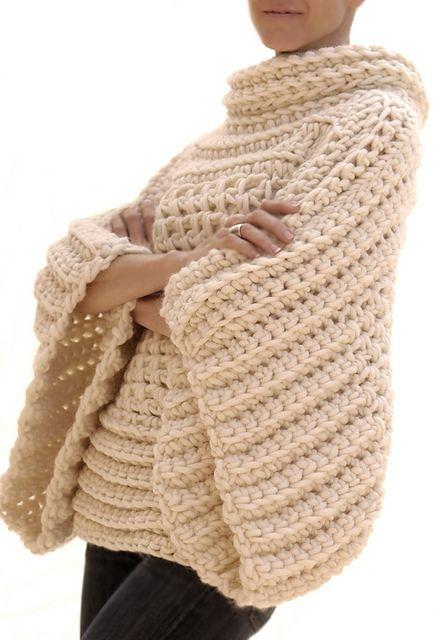 Ravelry: the Crochet Brioche Sweater pattern by Karen Clements ~t~