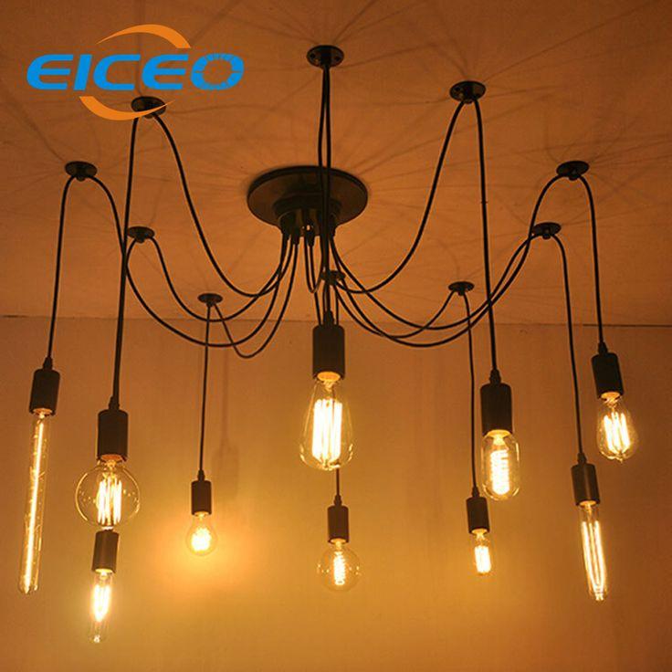 110V 35'' E26 Wood Beam Rustic Farmhouse Ceiling Fixture Chandelier Pendant Lighting Fixture Kitchen Dining Room Bar Hotel Industrial Decor(10 Bulbs