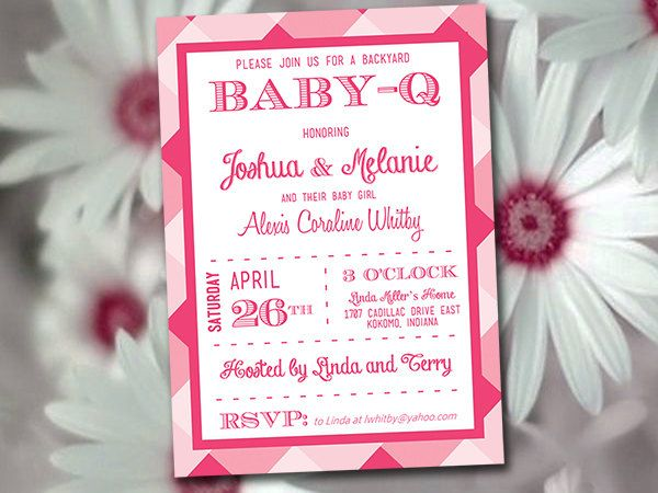 Baby-Q Baby Shower Invitation Template Download - Baby