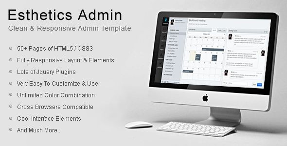 Esthetics Admin-Clean & Responsive Admin Template