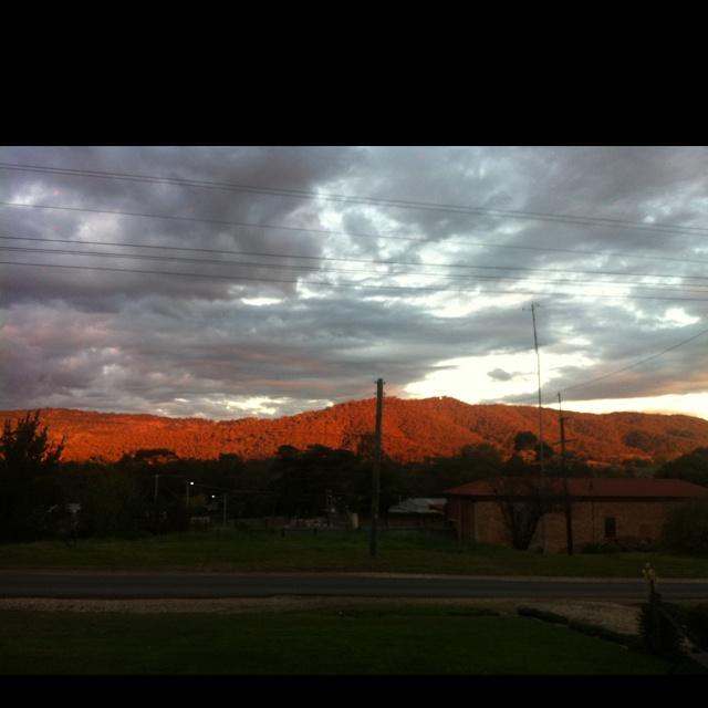 Sunset on the Tallarook Ranges