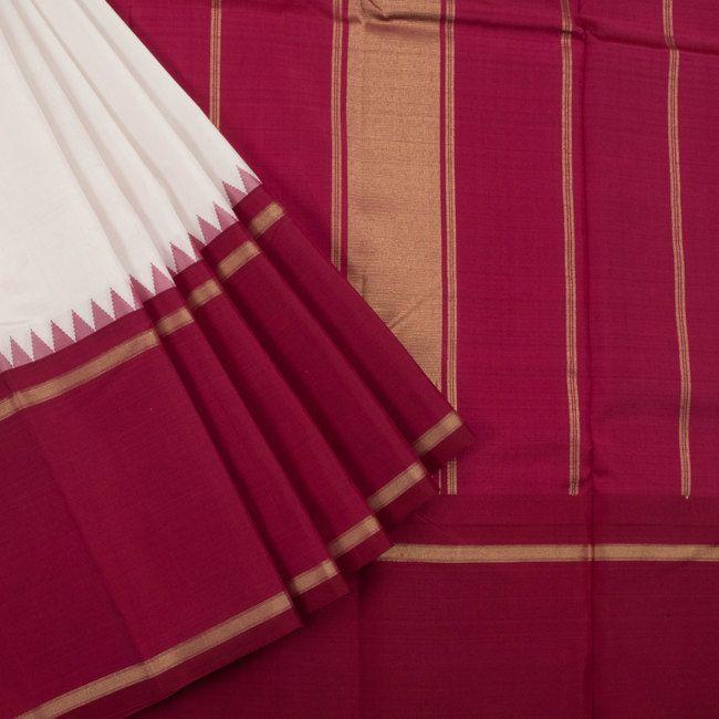 Sri Sagunthalai Silks Handwoven Korvai Kanchipuram Silk Saree with Temple Border 10002707 - AVISHYA