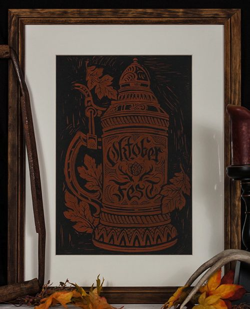 Oktoberfest Art Print by Derrick Castle – Prints