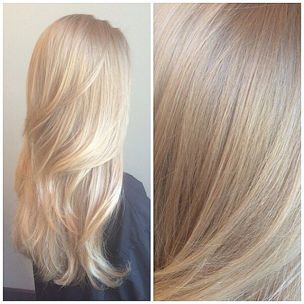 Love this girl and her hair! I used #redken's highlift blonde neutral with double 40 and ended up with a hot root so I went back and toned the roots down with #shadeseq 8n for about 10 min  so beigey gold and soft I love it @lolaf426