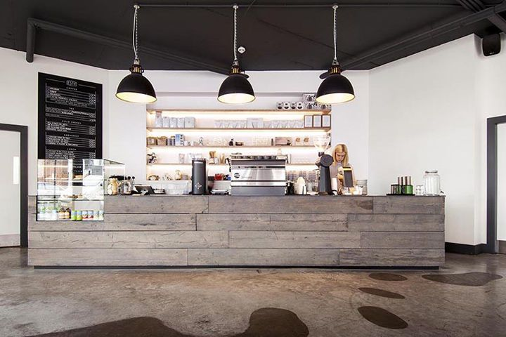 Minimalist Juxtaposed Cafes - This Coffee Shop Combines Timber & Concrete for a Raw Interior Design (GALLERY)