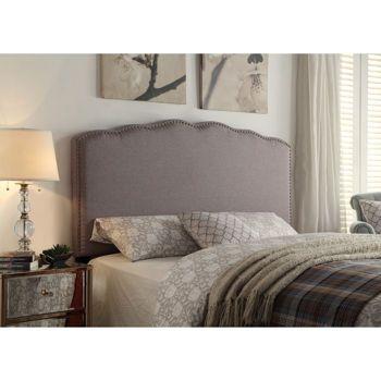 Mirielle Queen Upholstered Headboard - Grey