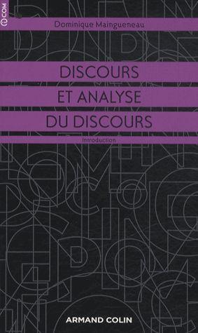 Discours et analyse du discours. Une introduction