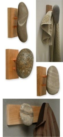 I love these natural hooks :) Something to do with ALL those rocks!!