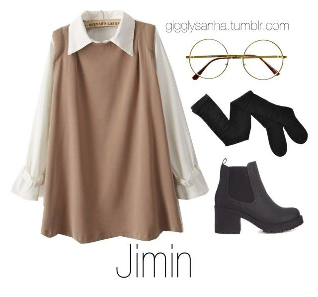 """""""Coffee Date (Winter) // Jimin"""" by suga-infires ❤ liked on Polyvore featuring Retrò and Fogal"""
