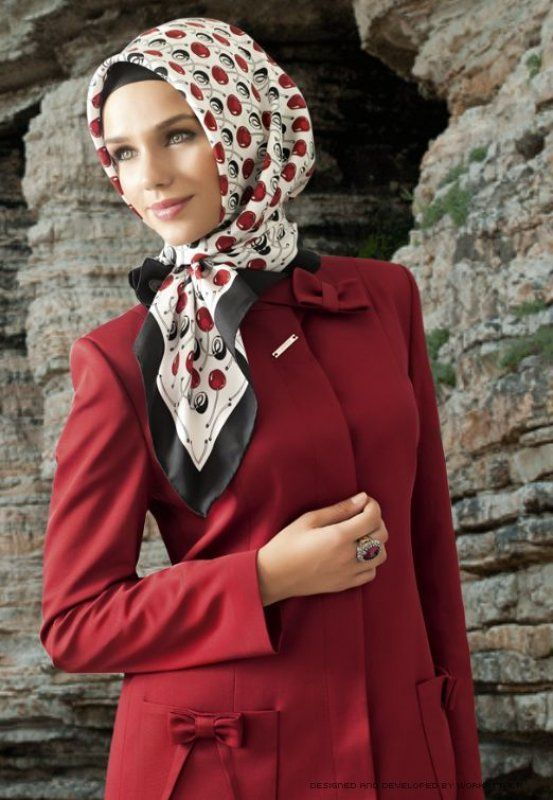 easy turkish hijab style