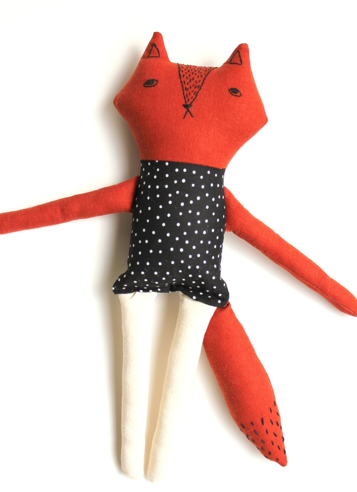 Forrest the Fox  Wild Doll Collection by Sleepy King by sleepyking, $72,00