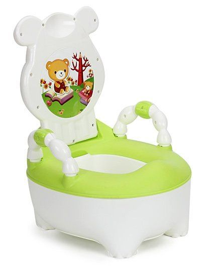 Baby Potty Seat - Green & White - R for Rabbit