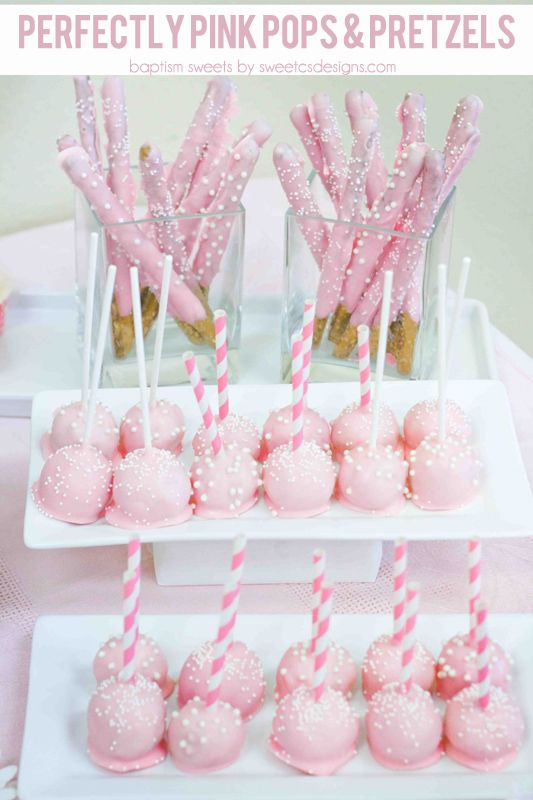 Candy pink cake pops make great sweet treats for any kids vintage tea party.  #pinkcakepops #kidsparty