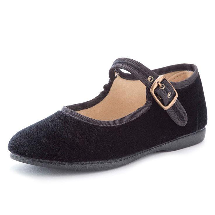 Sapatos Merceditas Veludo com Fivela - Pisamonas