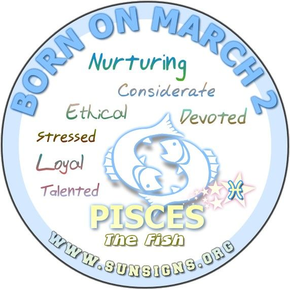 #Pisces March 2 – Birthday Horoscope Personality Characteristics
